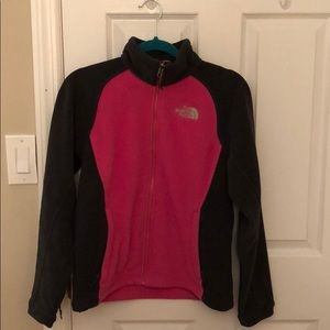 North Face Pink and Grey Fleece.
